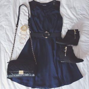 Navy blue work dress from Express